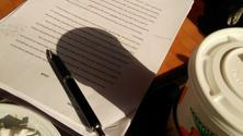Washington Heights Writers' Group weekly meeting