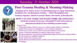 Post-Trauma Healing & Meaning-Making Workshop on 10/31/2020