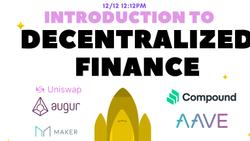 Course: Introduction to Decentralized Finance