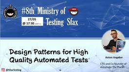MoT Sfax Meetup #8: Design Patterns for High-Quality Automated Tests