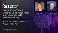 Create ASP.NET Core websites using Razor Pages with Maira Wenzel | Web Wednesday