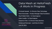 Data Mesh at HelloFresh - A Work in Progress