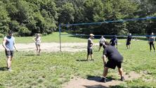 Gay friendly volleyball in Prospect Park