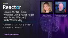 Create ASP.NET Core websites using Razor Pages with Maira Wenzel   Web Wednesday