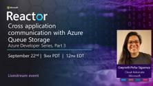 Cross application communication with Azure Queue Storage