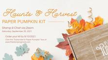 Haunts & Harvest - September Paper Pumpkin Stamp & Chat