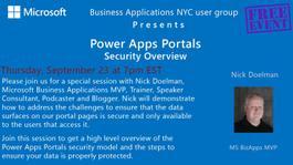 Power Apps Portals - Security