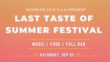Last Taste of Summer Music Festival