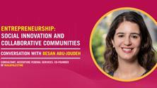 Entrepreneurship: Social Innovation & Collaborative Communities