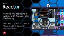 Building and deploying a website with Angular   Web Wednesday