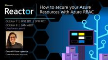 How to secure your Azure Resources with Azure RBAC