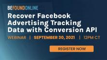 Recover Facebook Advertising Tracking Data with Conversion API