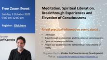 Meditation, Spiritual Liberation and Elevation of Consciousness