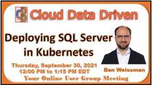 Deploying SQL Server  in Kubernetes