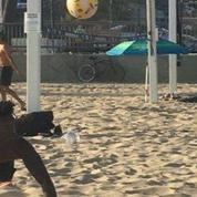 Volleyball. Training and Playing. Ocean Beach, San Francisco