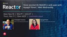 Voice assistant & WebXR in web apps with Ayşegül Yönet   Web Wednesday