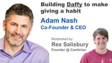 Building Daffy to make giving a habit w/ Adam Nash, Co-Founder & CEO
