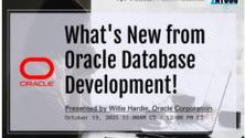 What's New from Oracle Database Development!