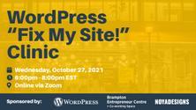 Brampton Wordpress Meetup - Fix My Site Clinic
